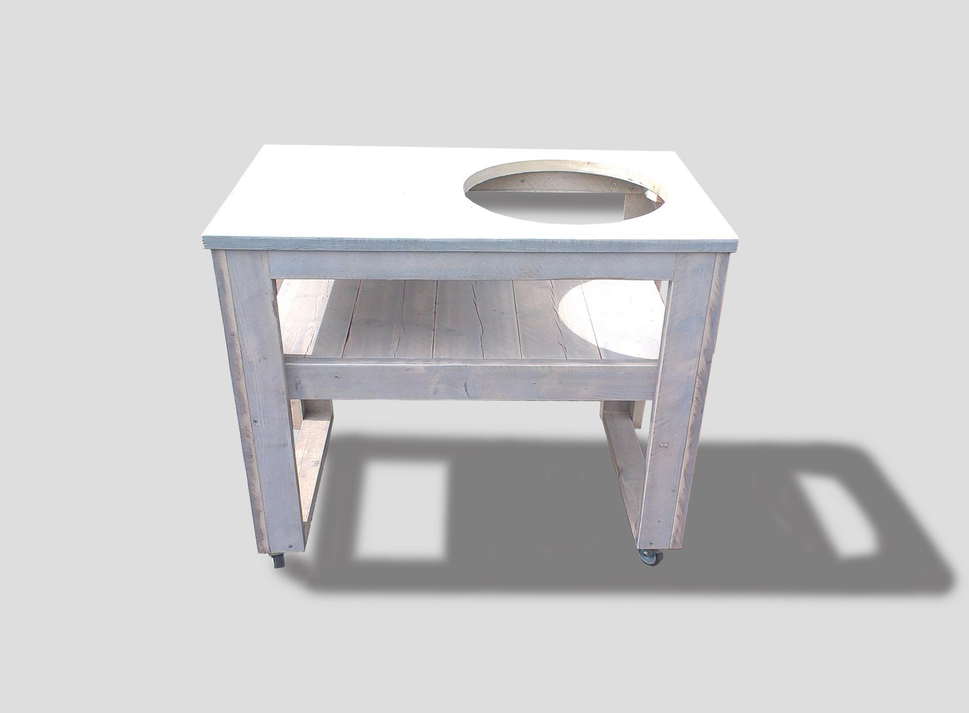 Tafel steigerhout kort model cookers grills for Afdekhoes tafel