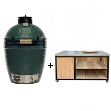 Big-Green-Egg-Medium-met-tafelkast-oak-steel-design